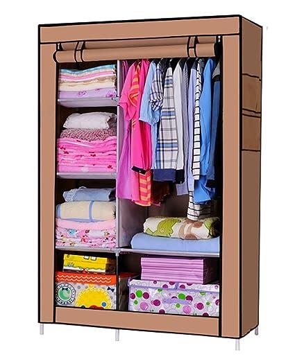 esy-life puerta doble armario de almacenamiento con marco de ...