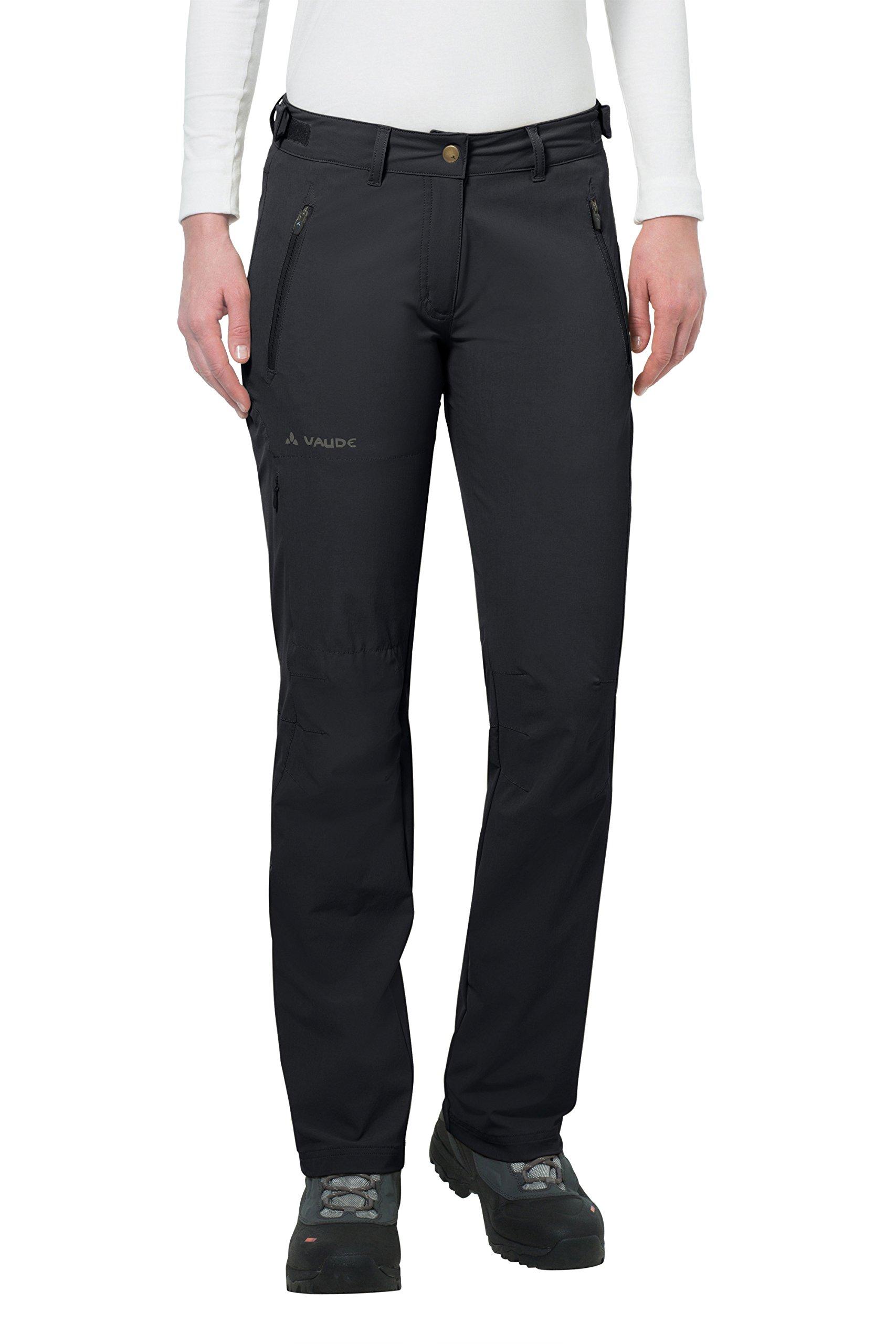 VAUDE Women's Farley Stretch II Pants, Black, Size 40