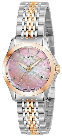 e969998e29cf [グッチ]GUCCI 腕時計 Gタイムレス ピンクパール文字盤 YA126536 レディース 【並行輸入