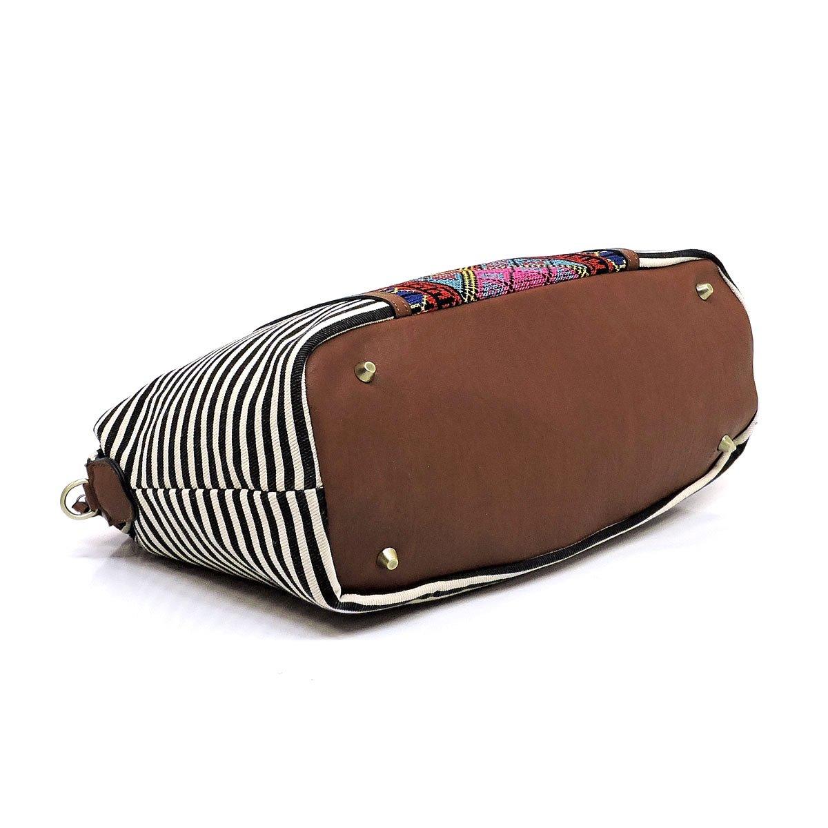 Boho striped canvas satchel bags tote handbags and shoulder purses
