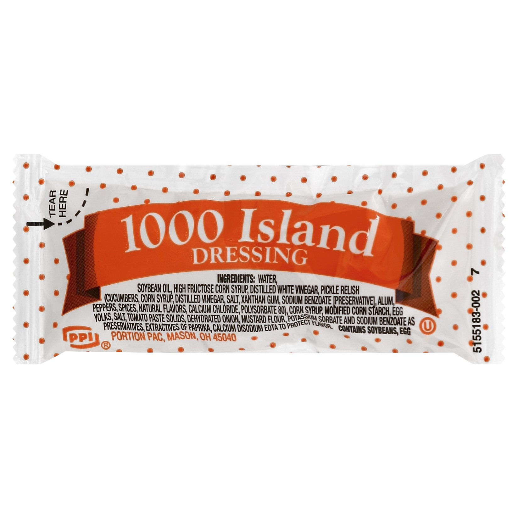 Portion Pack Dressing 1000 Island, 0.42-Ounce Single Serve Packages (Pack of 200)