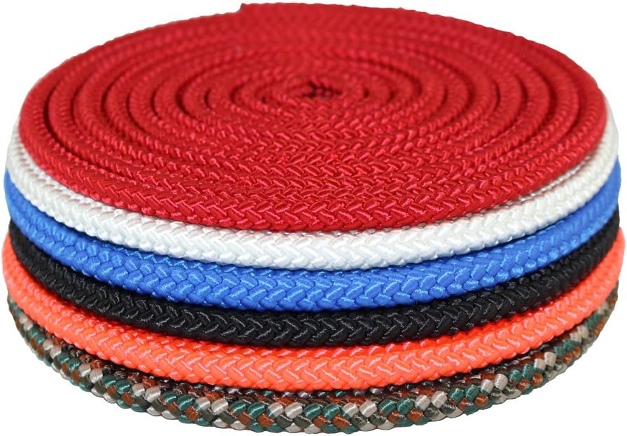 SGT Knots Crab Fishing Line Tire Cord White Twisted Polyester Twine Braided Rope String 1//4 in x 250 ft Spool Abrasion /& Marine Growth Resistant Diamond Braid Utility Rope with Parallel Core