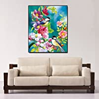 Rrimin Magpie Branches 5D Diamond DIY Painting Kit Home Decor Craft 30 X 40cm (No.20)