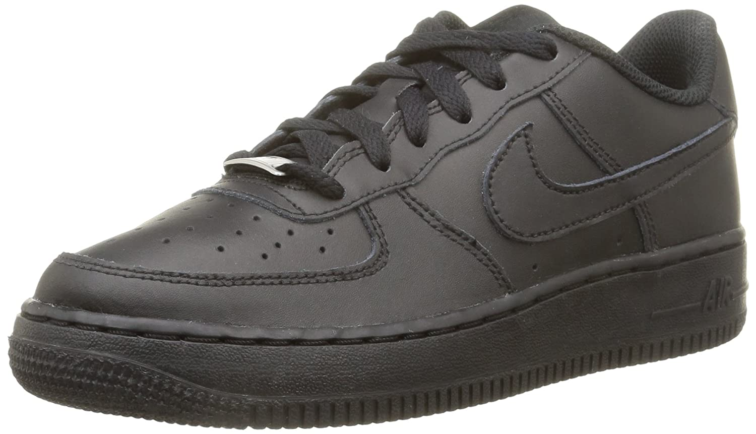 buy nike air force 1 youth black and white air forces fine. Black Bedroom Furniture Sets. Home Design Ideas