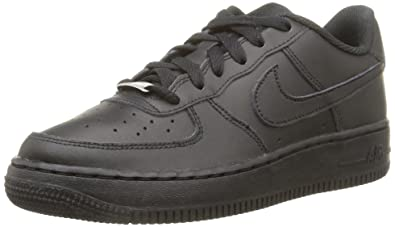 Nike Air Force 1 Unisex-Kinder Sneakers, Schwarz (009 BLACK/BLACK-