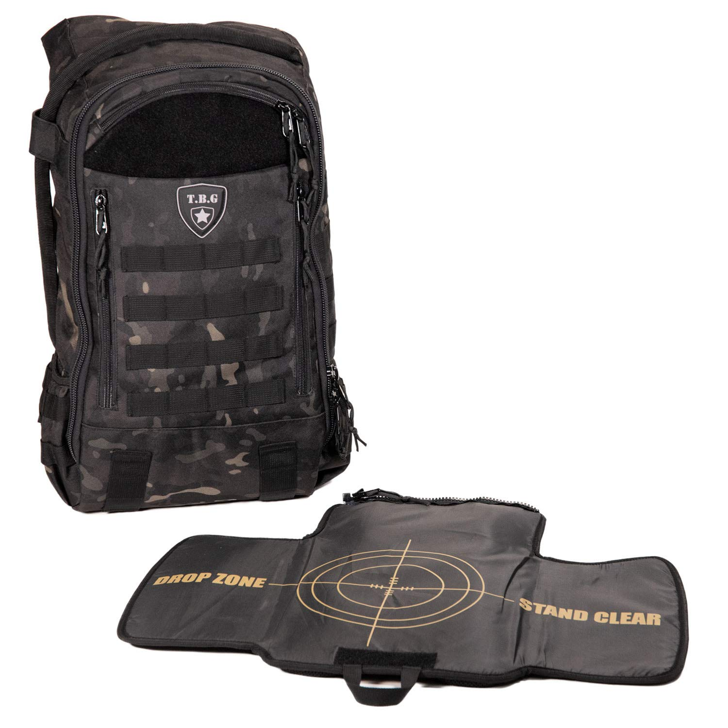 63dabffa3397 Amazon.com   Tactical Baby Gear Daypack 3.0 Tactical Diaper Bag Backpack  and Changing Mat (Black Camo)   Baby