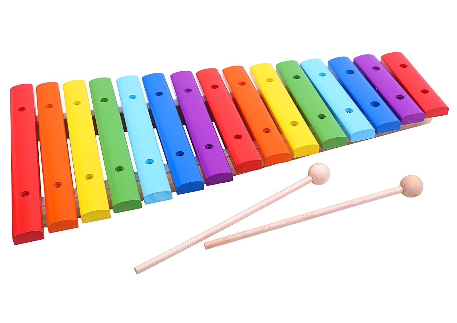 Classic 15-Note Xylophone Wooden Musical Instrument Set & 2 Mallets Toy - Premium Quality *SAMEDAY DISPATCH* TKC296-S2 N Tooky Toys
