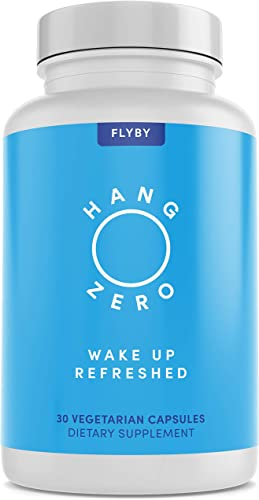 Hang Zero – Hangover Cure Prevention Pills – Dihydromyricetin DHM , Milk Thistle, Prickly Pear, NAC, Electrolytes for Morning After Alcohol Recovery – Liver Support Aid – 30 Capsules