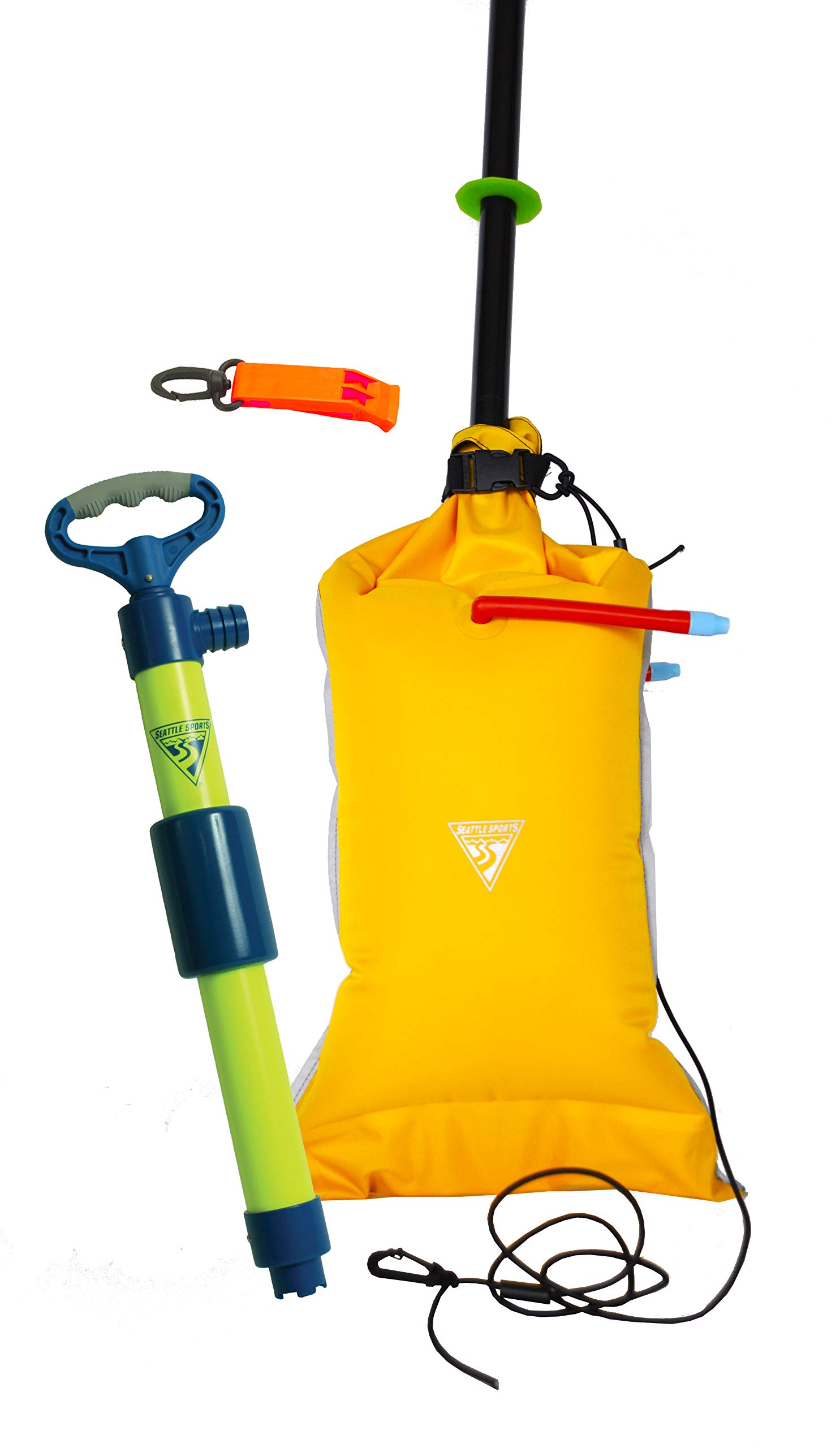 Seattle Sports Basic Safety Kit for Kayaks and Small Boats - Includes Bilge Pump, Paddle Float, and Safety Whistle by Seattle Sports