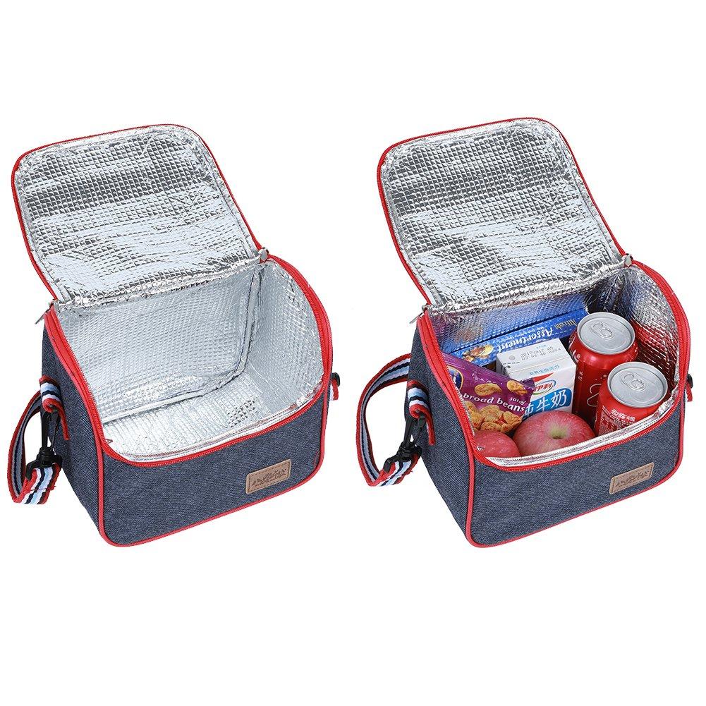 Lunch Box inserto Kit da pranzo freddo con borsa per Uomini Donne E524-3 EGOGO Oxford Borsa Termica