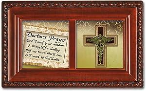 Cottage Garden Doctors Prayer Woodgrain Petite Music Box/Jewelry Box Plays Amazing Grace