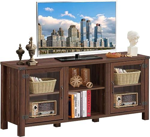 Tangkula Farmhouse TV Stand
