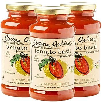 Amazon Com Cucina Antica Tomato Basil Pasta Sauce Non Gmo