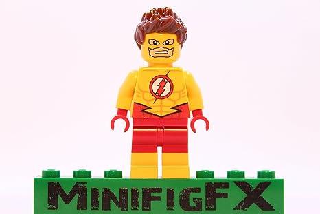Amazon.com: Custom Lego Kid Flash Minifig DC Comics Young Justice ...