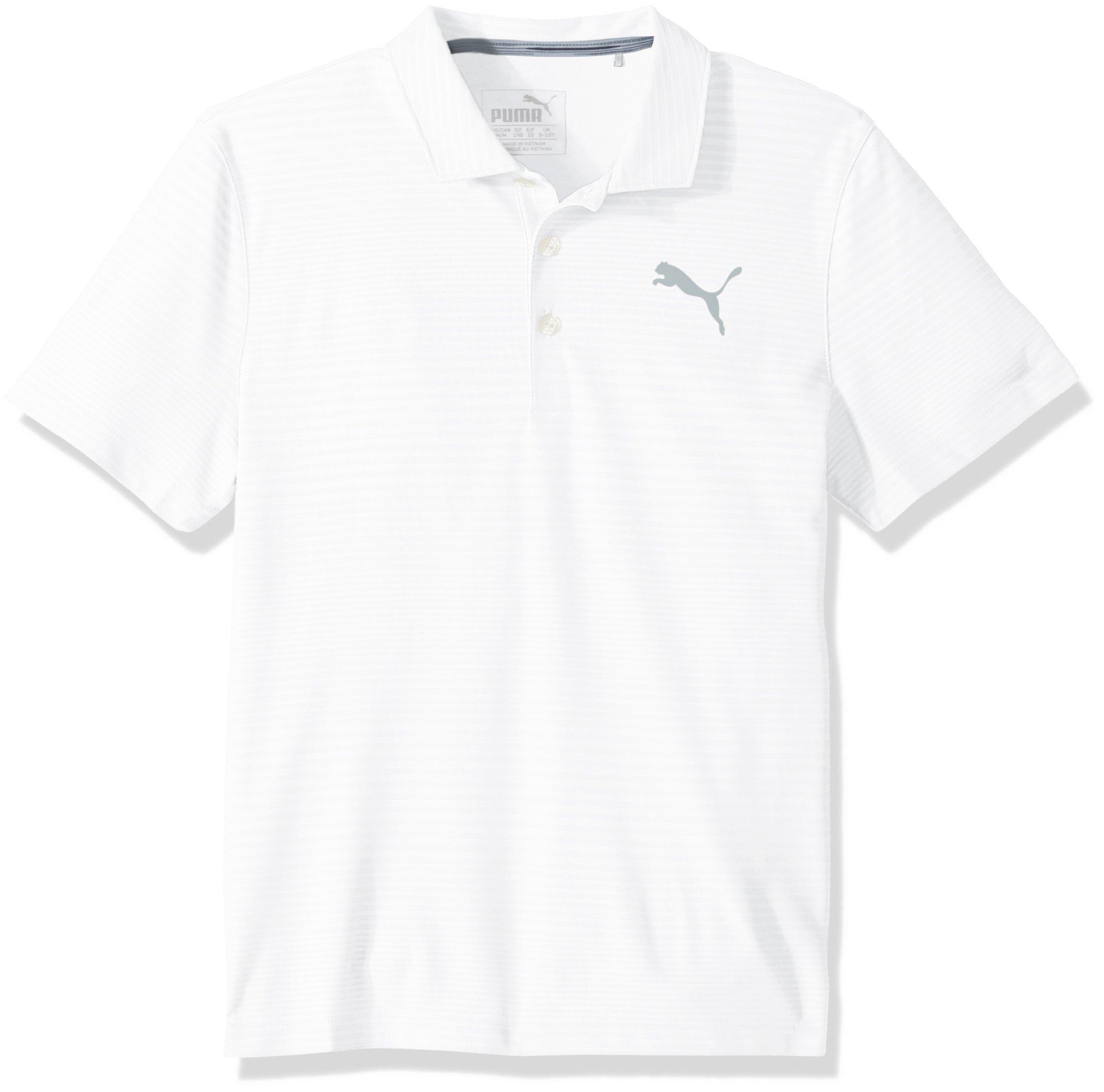 PUMA Golf Teen-Boys 2018 Pounce Aston Polo, Bright White, X-Small
