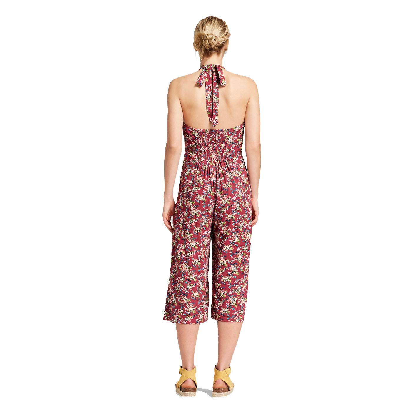 0533e0bfe480 Amazon.com  Xhilaration Women s Halter Top Overall Jumpsuit - Magenta -  XXLarge  Clothing