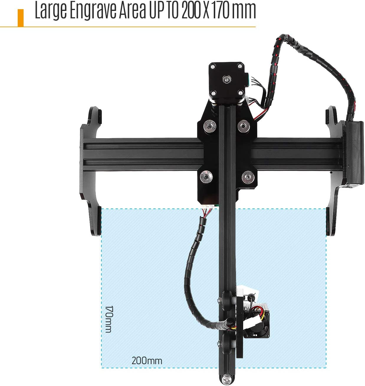 KKmoon Graviermaschine,7W La-ser engraver Maschine Upgrated Version La-sergravur Drucker USB CNC engraver f/ür Win 7//8//10 XP Android 4.2