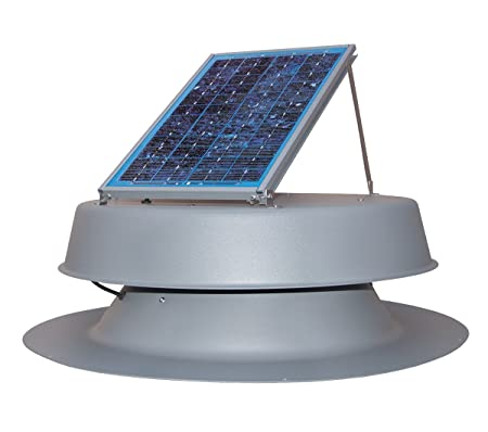 front facing natural light 12-watt solar attic fan