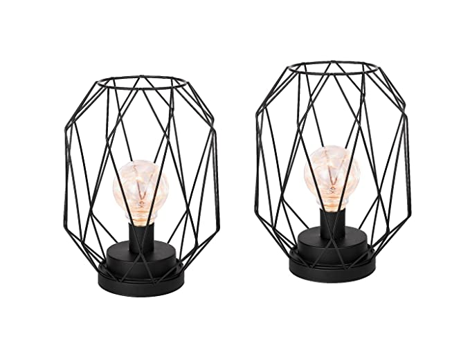 Juego de 2 lámparas LED de mesita o decorativas, con pilas ...