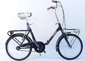 FAEMA Bicicleta Plegable 20 Acero Negro