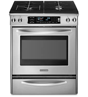 kitchenaid architect series ii kgss907sss 30 slidein gas range 4 sealed burners