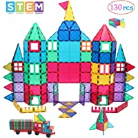 130-Pieces Manve Magnetic Building Blocks Tiles Toy