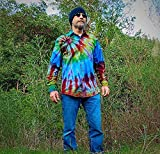 Rainbow Tie Dye Denim Shirt - S