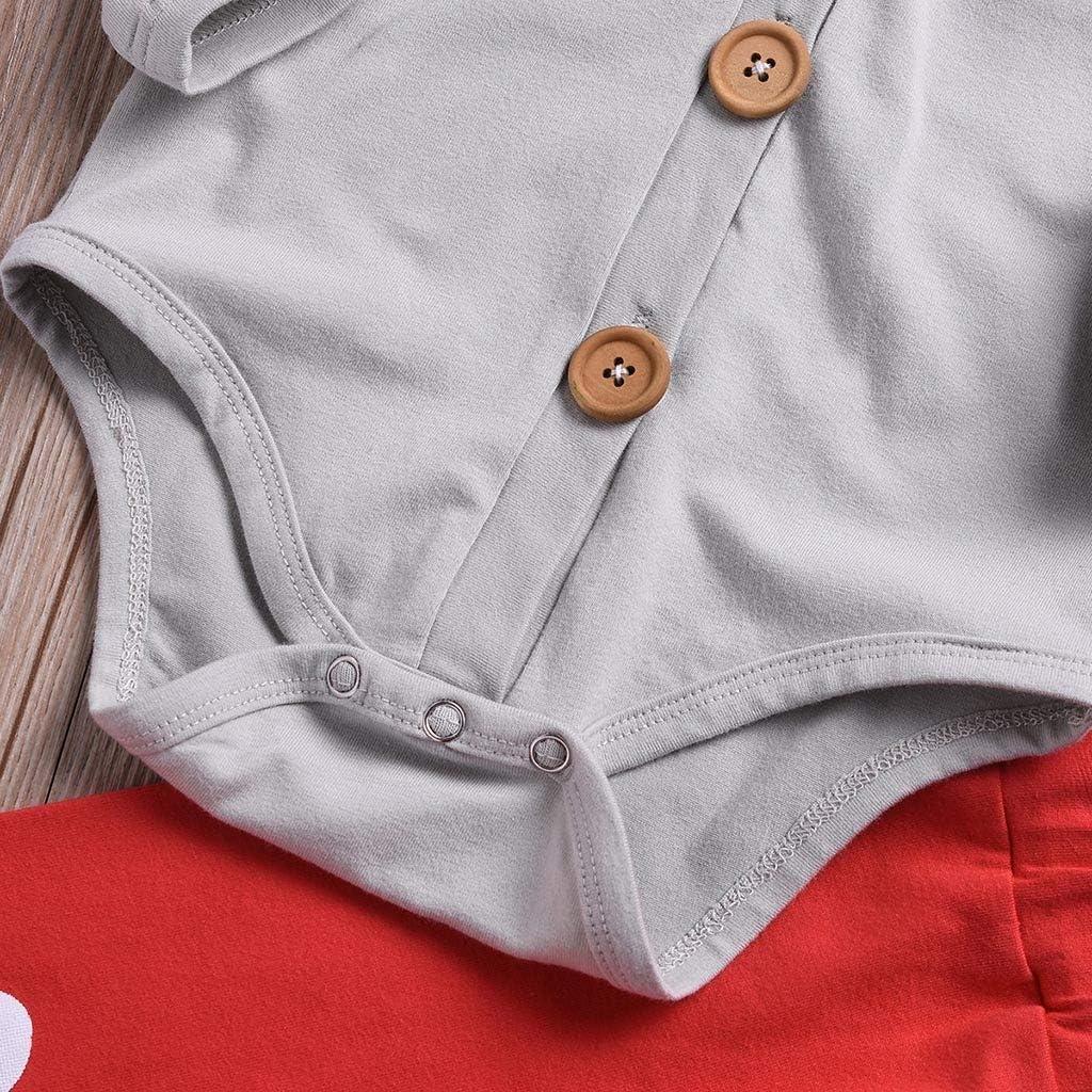 LIKESIDE Valentines Toddler Baby Bowknot Romper Tops+Letter Gentleman Jumpsuit+Pants Set