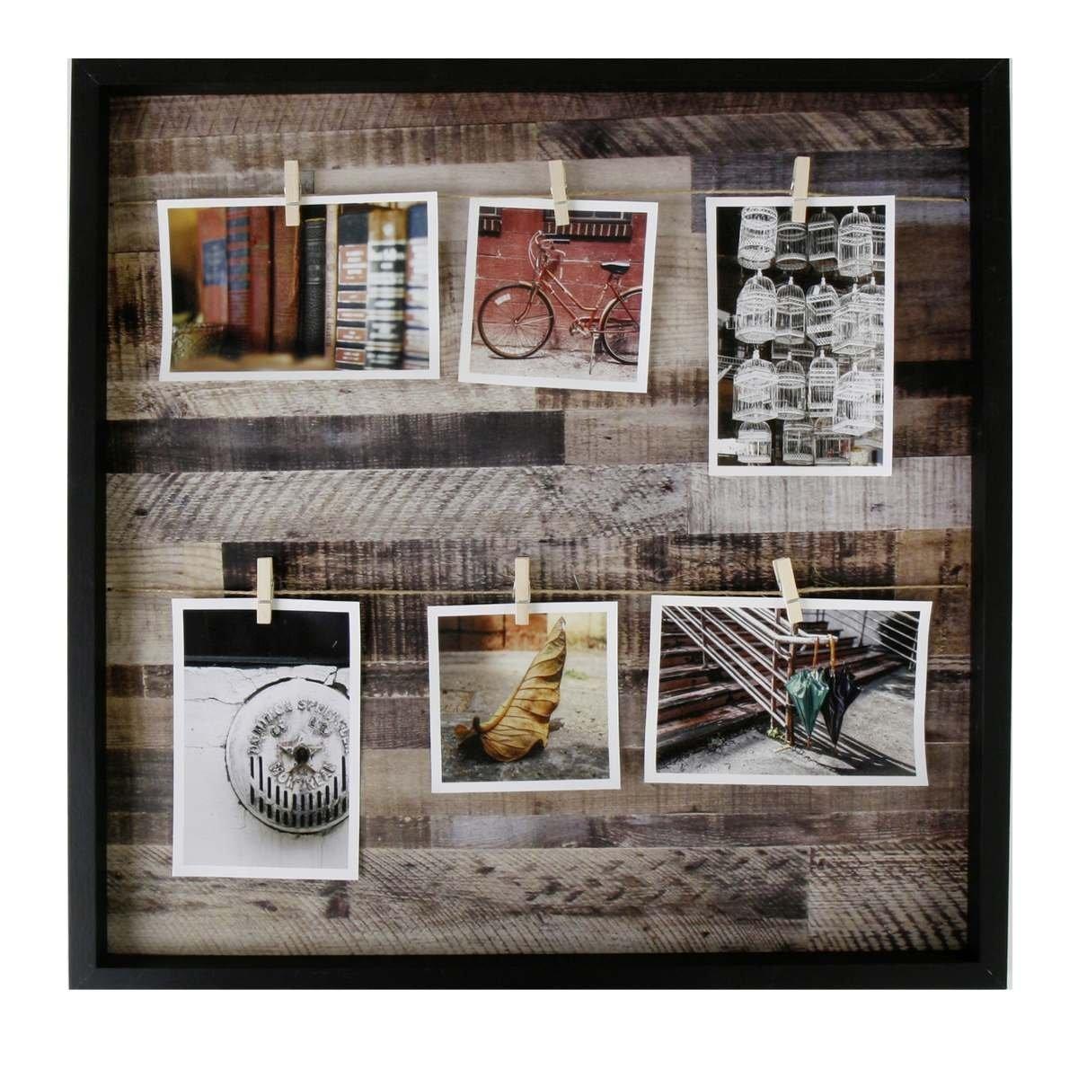Deko Fotorahmen/Bildhalter in Form eines offenen Bilderrahmens ohne ...