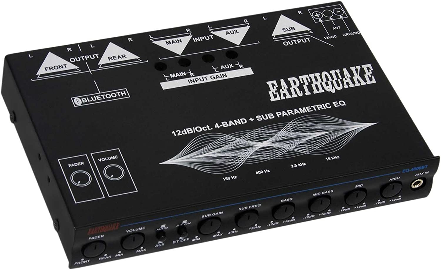 Earthquake Sound Eq4000bt 4 Band Equalizer With Clarion Eqs746 Wire Harness Bluetooth Capability Car Electronics
