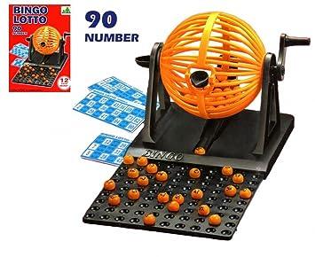 Bingo Juego Con Play Cards Máquina de Bingo Loto  Amazon.es  Juguetes y  juegos 1fb9c67b1b3e2