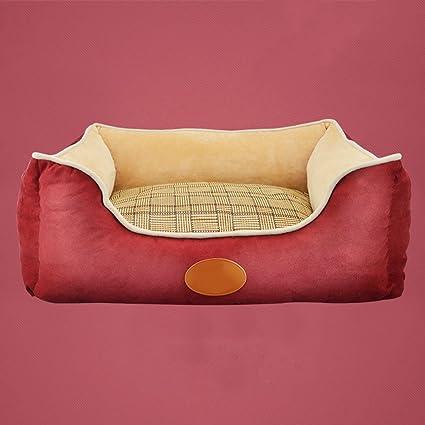 Suministros para camas Cama extraíble y Lavable para Mascotas de Cuatro Estaciones Artículos para Mascotas pequeñas