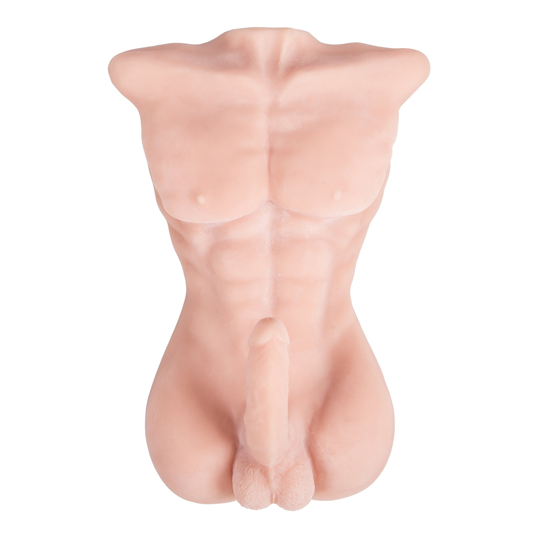 Y-Not Male Torso 3D Sex Doll Chiseled Male Body Realistic Love Doll with Large Dildo Penis Adult Toy (White) by Y-Not