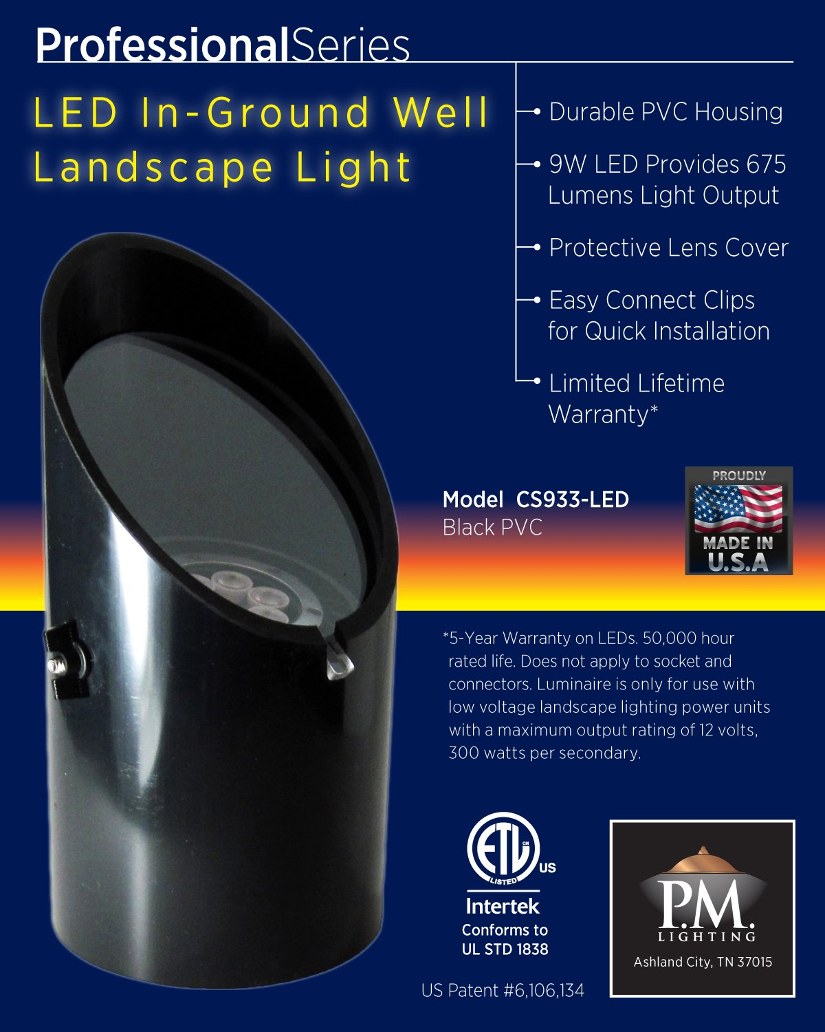cs933 led professional series in ground led well light amazon com