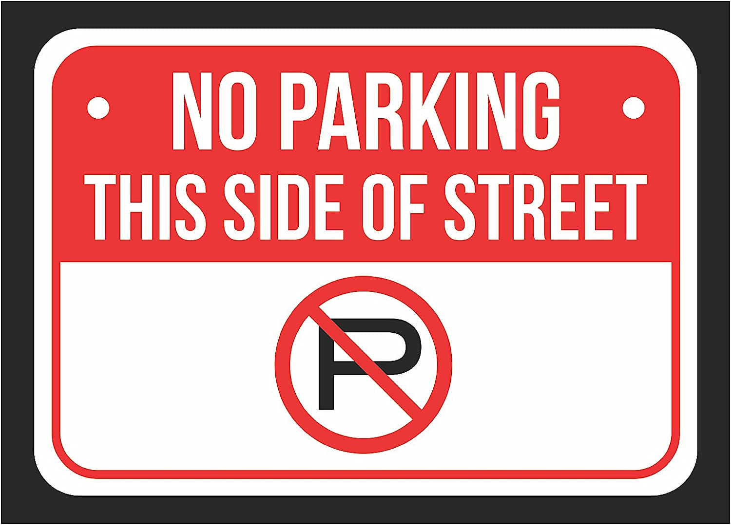 - Amazon.com : No Parking This Side Of Street Print Red, White And