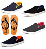 SCATCHITE Men's Pack Of 5 Footwear (Loafers & Moccasins,Casual Shoes,Slipper)