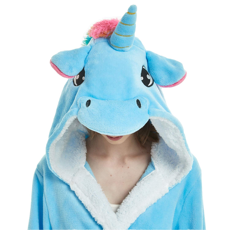 pjsonesie Kid Bathrobe Unicorn Flannel Robe Unisex Gift All Season Sleepwear
