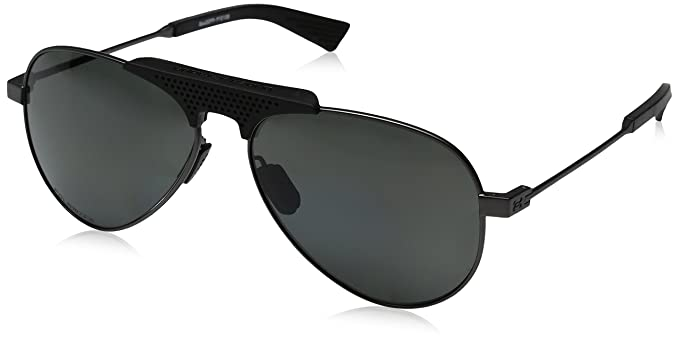 b17b611c450 Image Unavailable. Image not available for. Color  Under Armour Aviator Sunglasses  UA GETAWAY SATIN GUNMETAL BLACK GRAY POLARIZED ...
