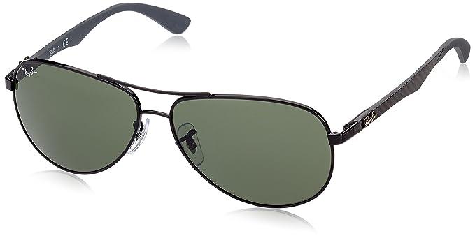 fbcabbaafe Ray Ban RB8313 Carbon Fibre Sunglass-002 Black (Crystal Green Lens)-58mm
