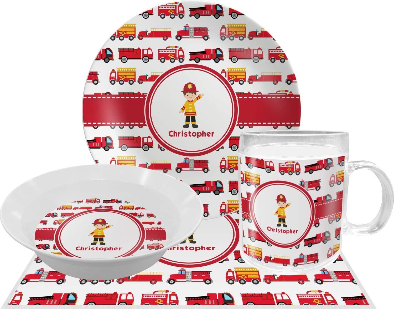 Camiones de bomberos de melamina plato (personalizado): Amazon.es ...