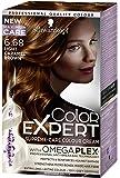 Schwarzkopf Color Expert Omegaplex Hair Dye, 6-68 Light Caramel Brown