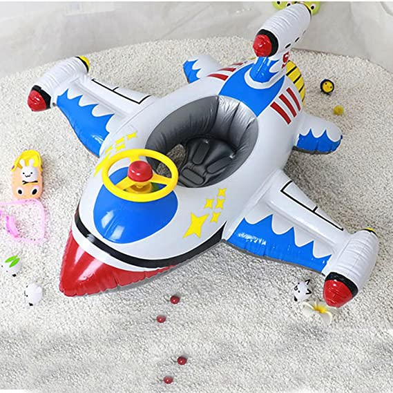 Fullfun Airplane Pool Float Giant Swan 110cm Inflatable Swimming Pool Ring Toys for Children Flotadores Para Piscina - - Amazon.com