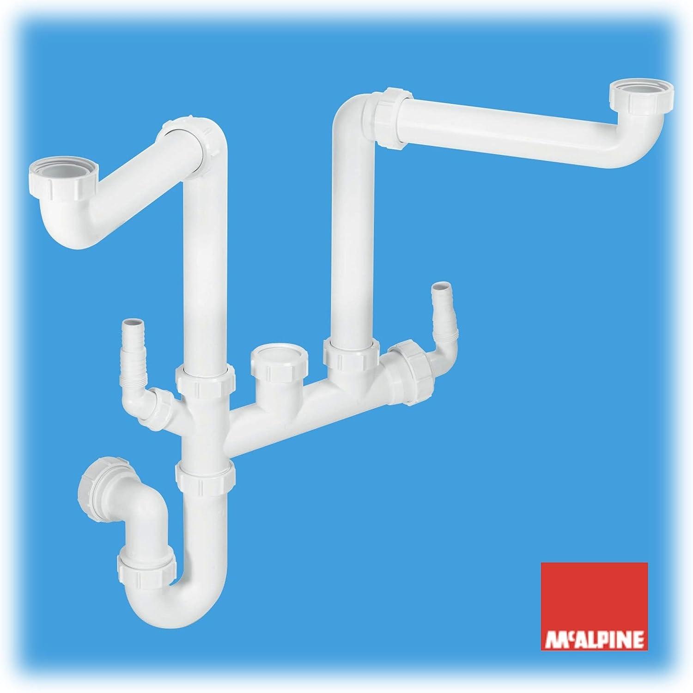 Desagüe para fregaderos de doble cubeta McAlpine SSK2, diseño ...