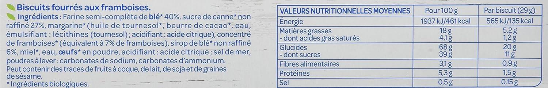Bjorg Galletas Rellenas de Frambuesa - Paquete de 12 x 175 gr - Total: 2100 gr: Amazon.es: Alimentación y bebidas
