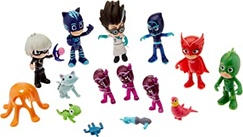 PJ Masks 24670 Deluxe Figure Set- Brown Mailer
