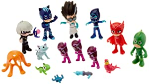 PJ Masks Deluxe Figure Set- Brown Mailer, Multicolor