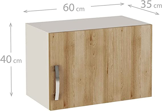 MEKA-BLOCK Módulo Alto de Cocina altillo en una Puerta, Madera, Haya Natural, 40x60x35 cm: Amazon.es: Hogar