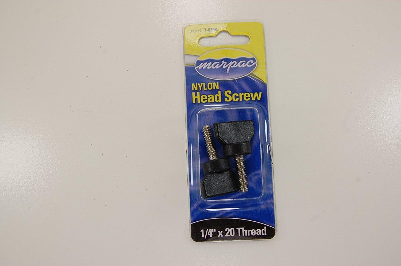 Marpac 7-0298 Boat Bimini Top Head Screws Black Nylon Stainless Steel 2 Pack