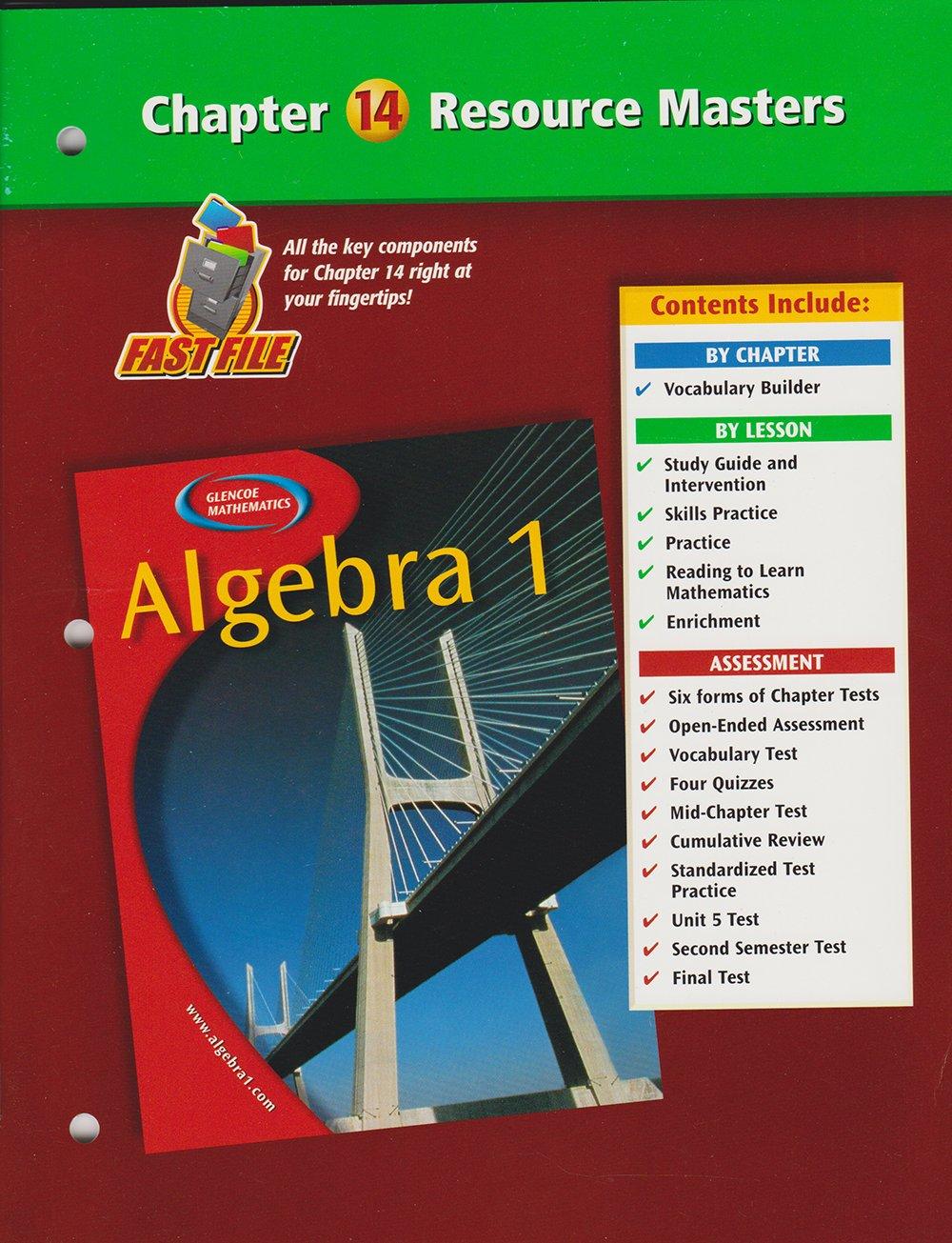 Algebra 1 Chapter 14 Resource Masters: Glencoe/McGraw-Hill: 9780078277382:  Amazon.com: Books