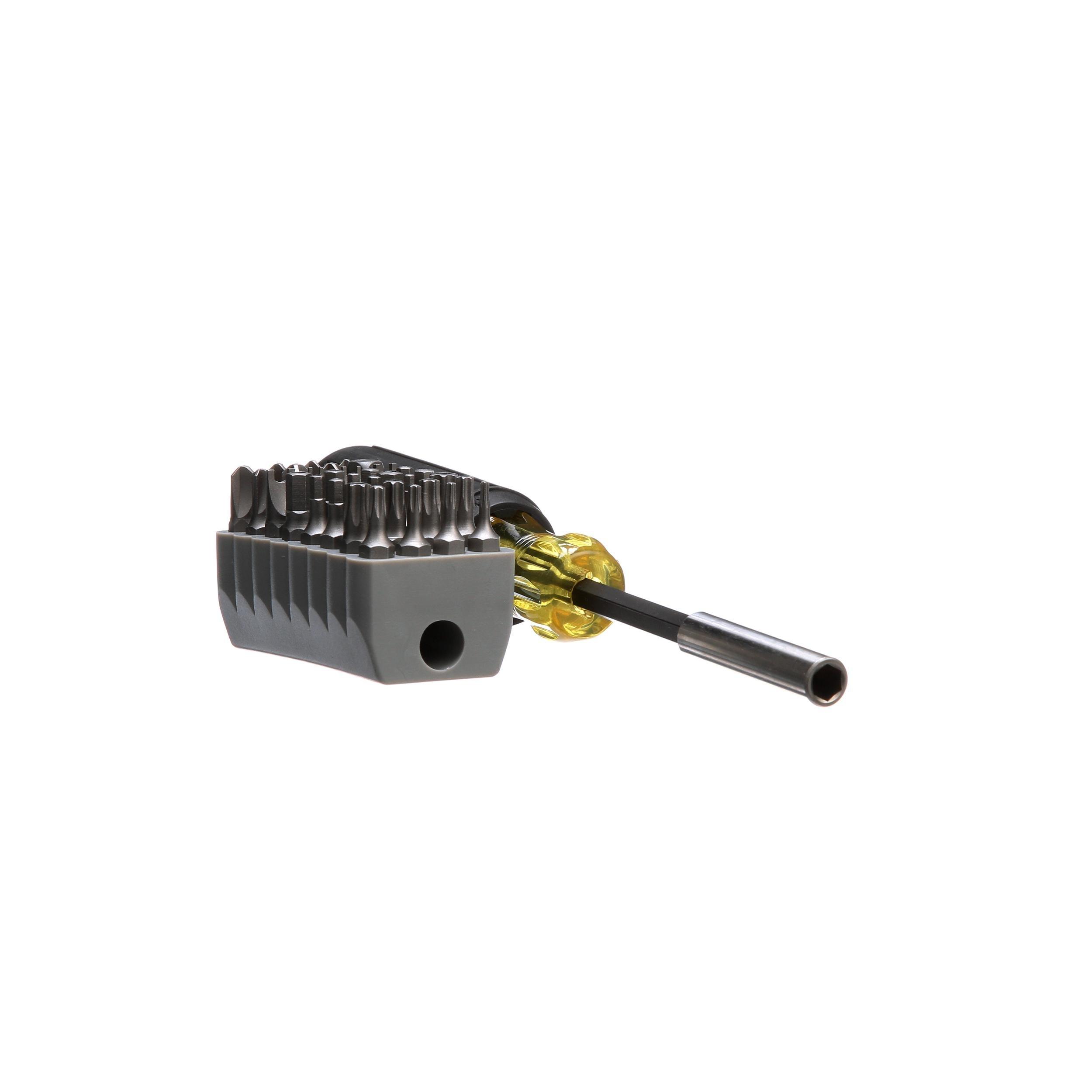 Screwdriver Includes Magnetic Tamperproof TORX, Hex, Spanner, TORQ, Triwing Bits, 32 Piece Klein Tools 32510